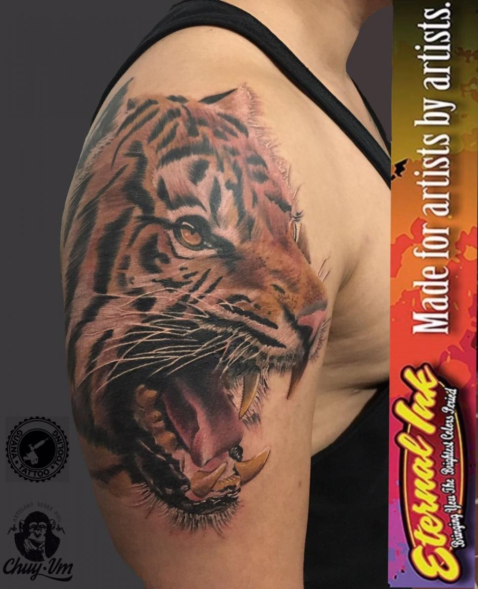 tigre tatuaje realizado por Chui Vm