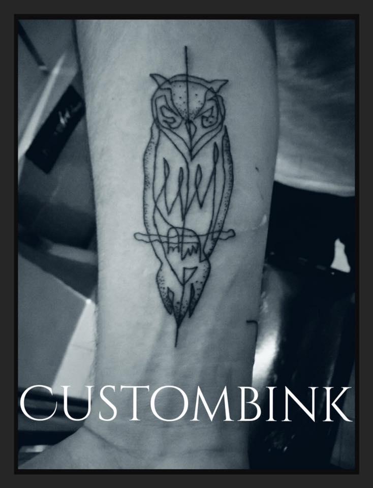Owl tatuaje realizado por B-Ink Tattoo