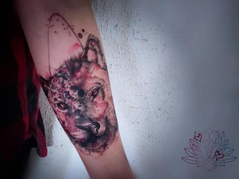 Sketch tattoo tatuaje realizado por Alejandra Hernández