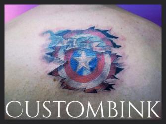 Capitán América tatuaje realizado por B-Ink Tattoo