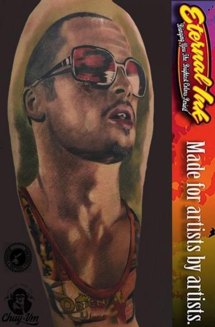 brad pitt club de la pelea tatuaje realizado por Chui Vm