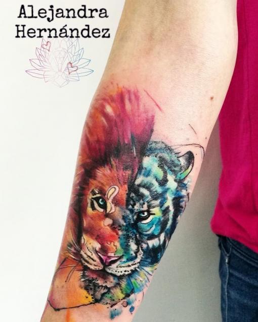 Sketch art tatuaje realizado por Alejandra Hernández