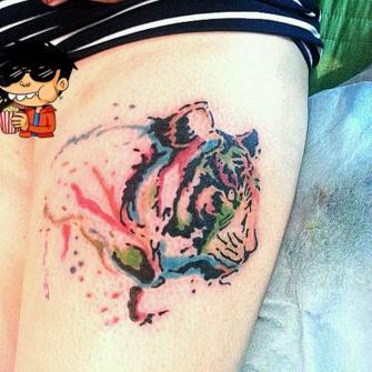 Tigre  tatuaje realizado por TattoDanny