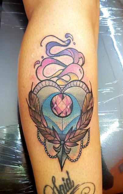 corazon  tatuaje realizado por The inkperfect tattoo shop
