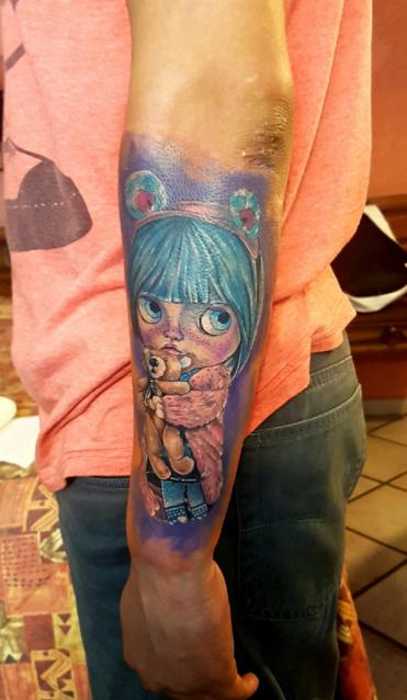 Muñeca  tatuaje realizado por The inkperfect tattoo shop