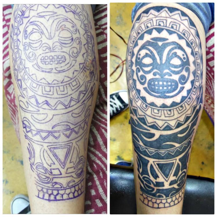 Maori tatuaje realizado por TattoDanny