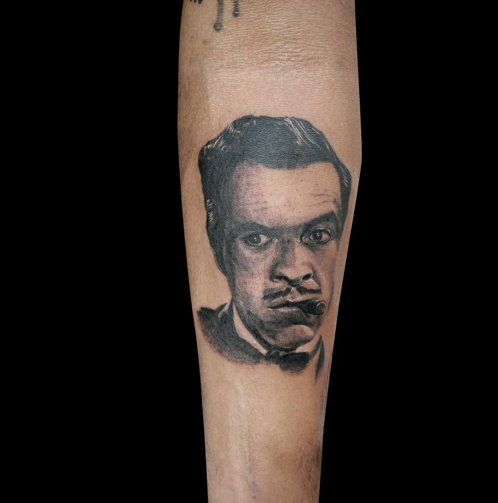 Tin Tan tatuaje realizado por Mario TORRES