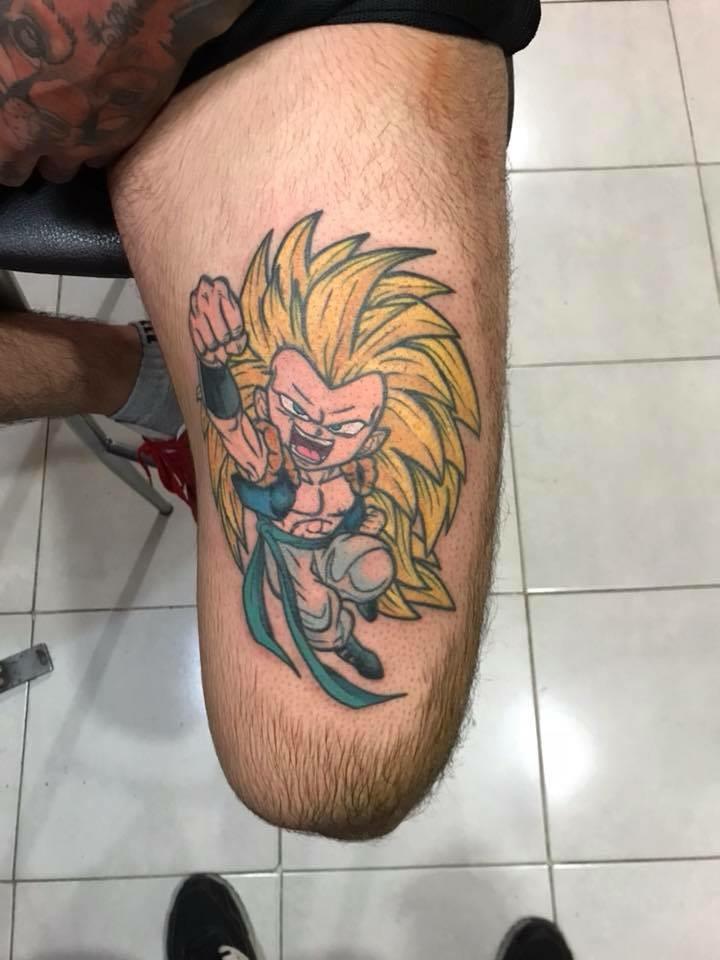 Gotenks tatuaje realizado por Edgar Salazar