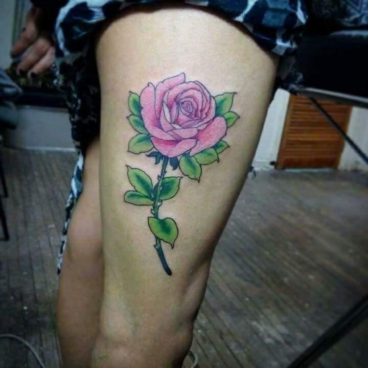 Rosaura tatuaje realizado por El pinchi borre
