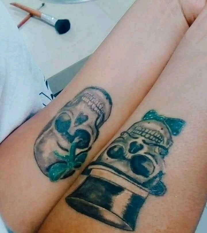 Catrines tatuaje realizado por kreador one