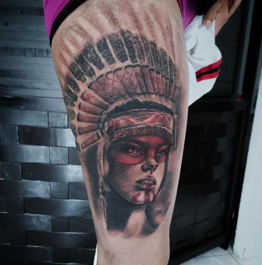 8 tatuaje realizado por Xhander Macuare