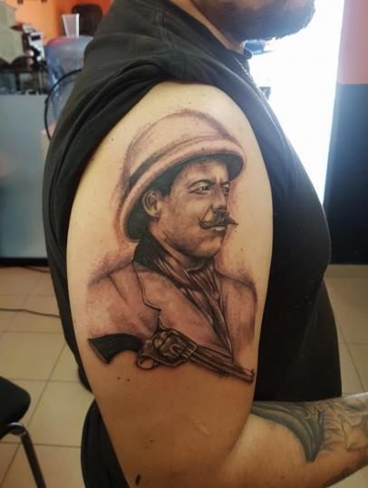 Pancho villa  tatuaje realizado por The inkperfect tattoo shop