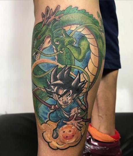 GOKU  tatuaje realizado por Edgar Constantino flores (Tino)