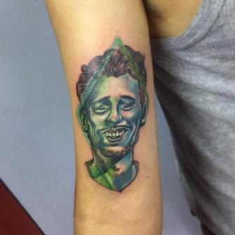 james franco  tatuaje realizado por Gerardo Aceves