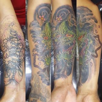 Cover-up tatuaje realizado por Electric tattoo