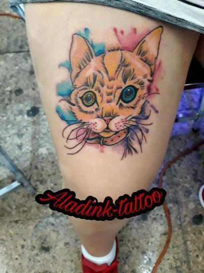 Shiwa tatuaje realizado por Blas Aladid Maya