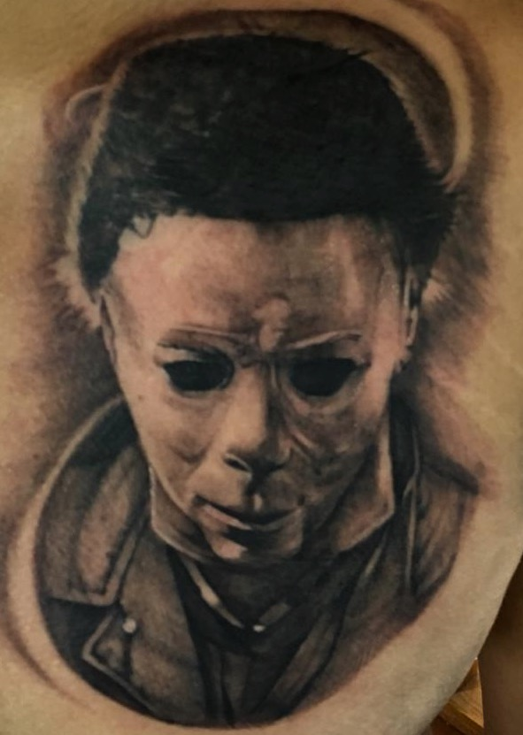 Michael Myers  tatuaje realizado por Moreno Ivan (Droes)