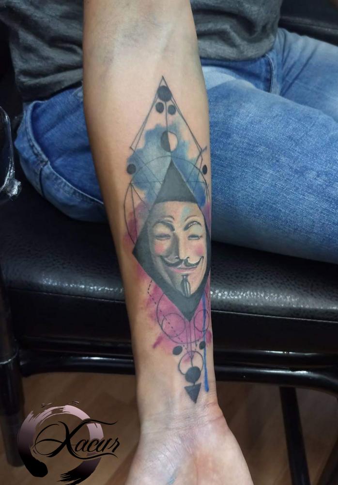 Vendetta  tatuaje realizado por Xacur Tattooist