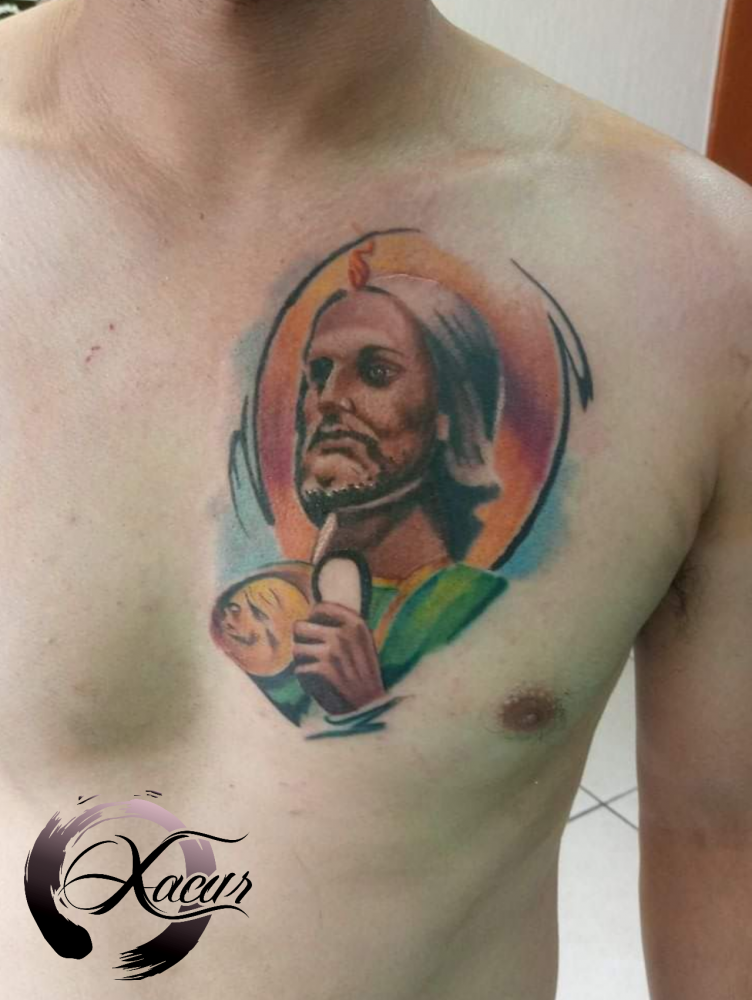 Tatuaje Del Artista Mexicano Xacur Tattooist San Judas Tadeo