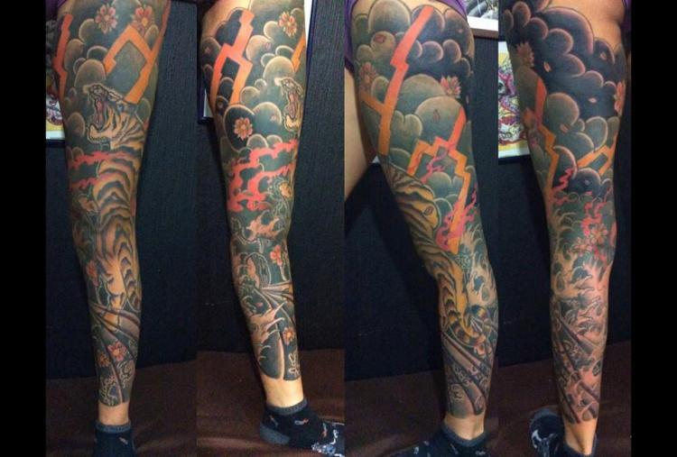 tora tatuaje realizado por Garo Lozada