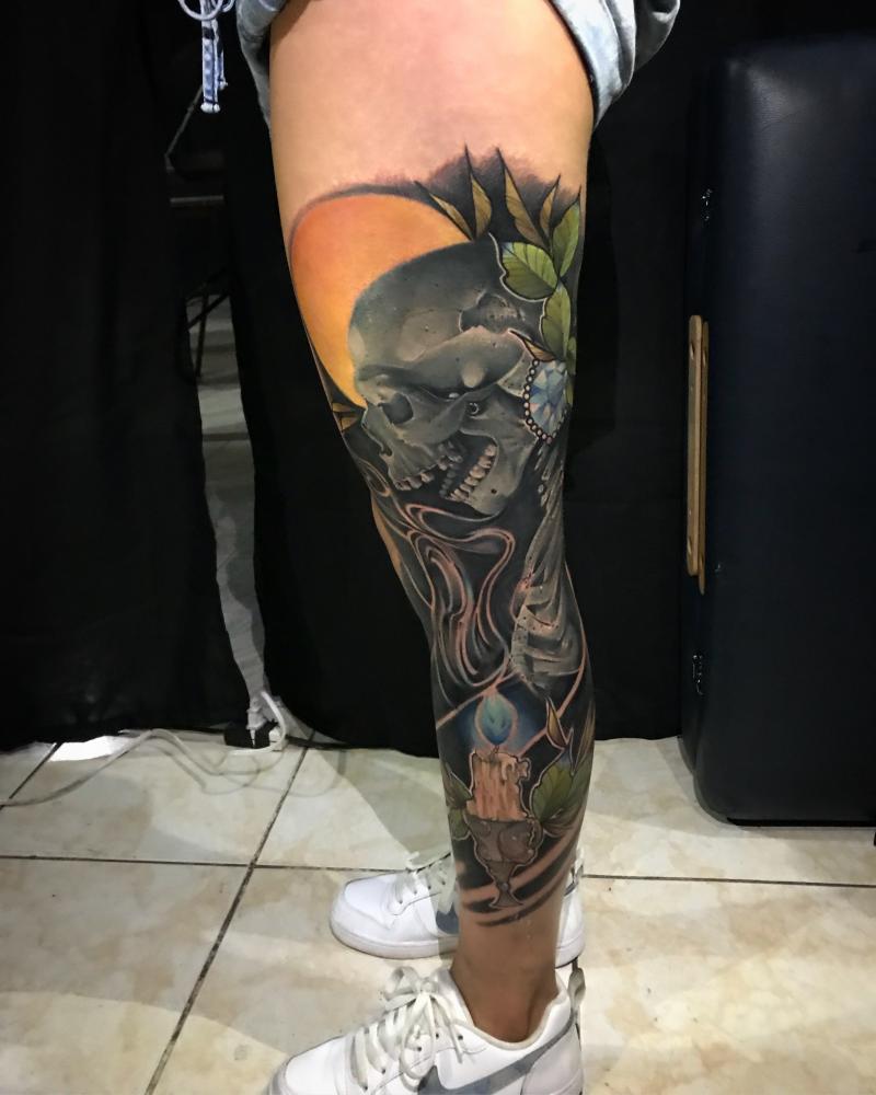 Fusión art  tatuaje realizado por Dani Latymor