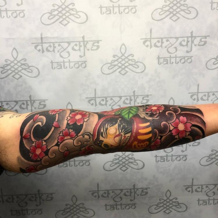 Manga japonesa tatuaje realizado por Rolando Castillejos