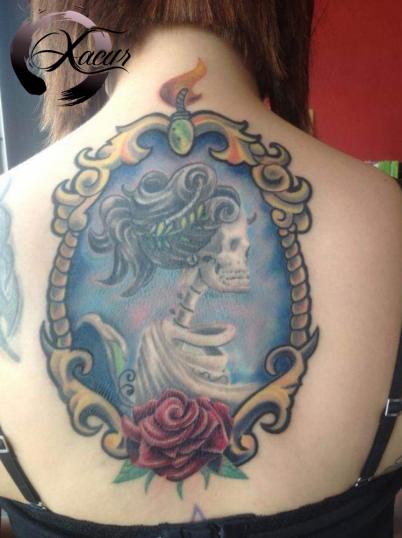 Camafeo tatuaje realizado por Xacur Tattooist