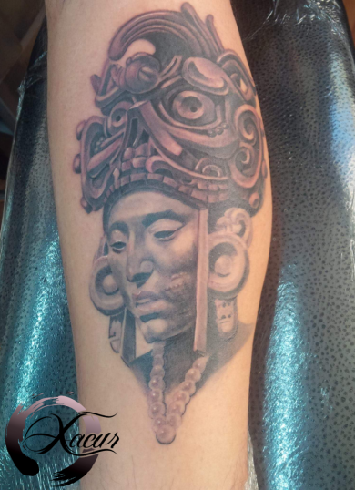 Black and gray  tatuaje realizado por Xacur Tattooist