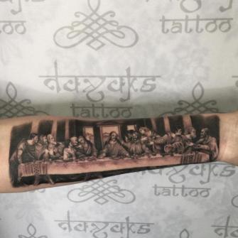 Ultima cena tatuaje realizado por Rolando Castillejos