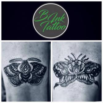 -Moth- tatuaje realizado por B-Ink Tattoo