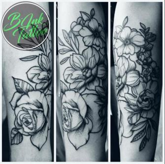 -Chain of Roses- tatuaje realizado por B-Ink Tattoo
