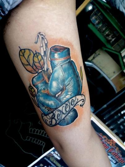 box tatuaje realizado por Garo Lozada