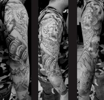 guerrero jaguar tatuaje realizado por Garo Lozada