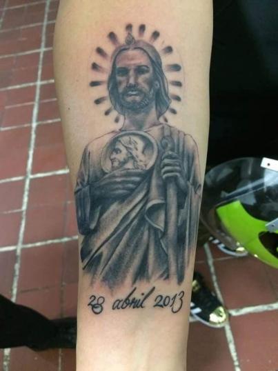 San Jose tatuaje realizado por Alejandro Hernández (Piolink)