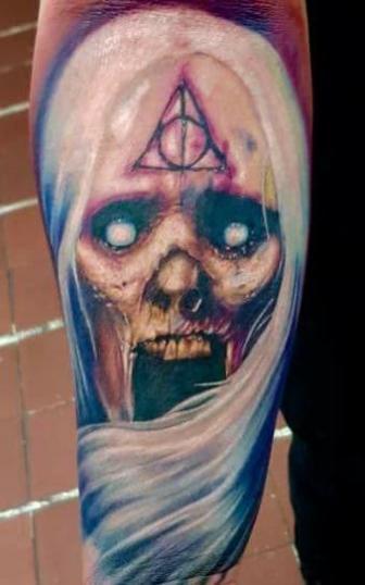 Demonio  tatuaje realizado por Paulino Vergara (Mono)
