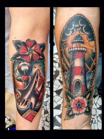 tradicional americano tatuaje realizado por Garo Lozada