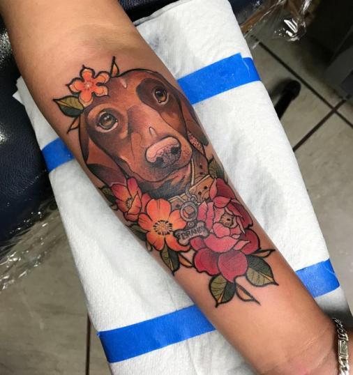 """""""Brandy """" neotradicional  tatuaje realizado por Dani Latymor"""