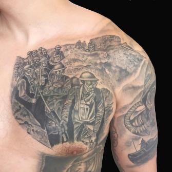 infanteria australiana tatuaje realizado por Rene pacheco