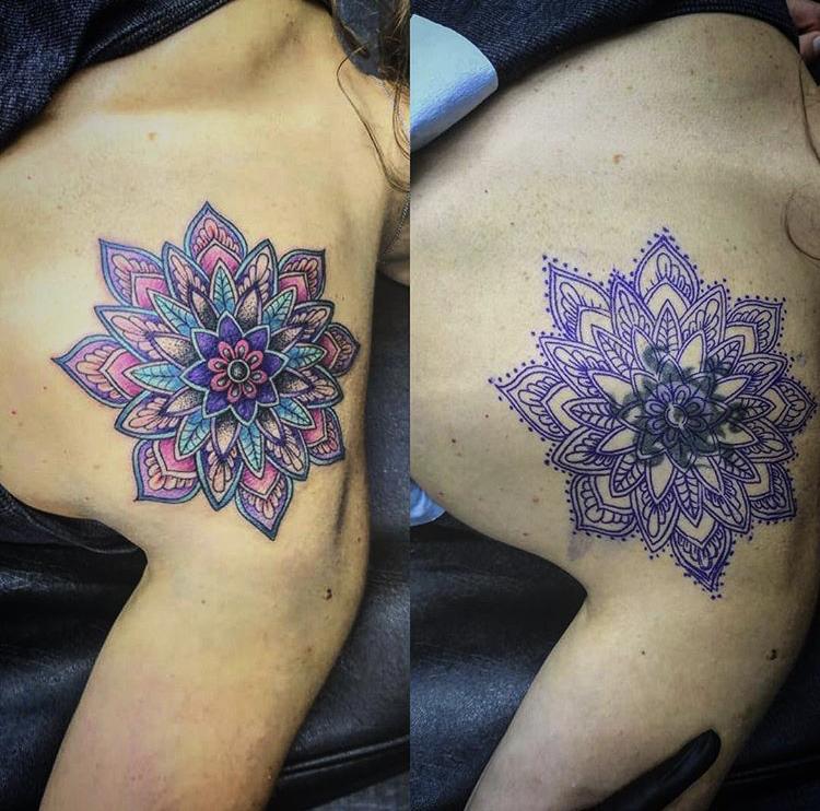 Cover UP  tatuaje realizado por SOHO CUSTOM TATTOO