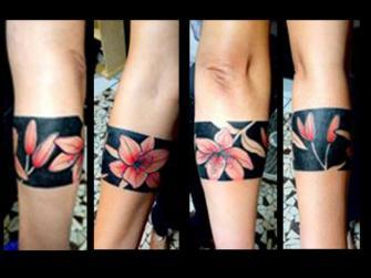 flores tatuaje realizado por Garo Lozada
