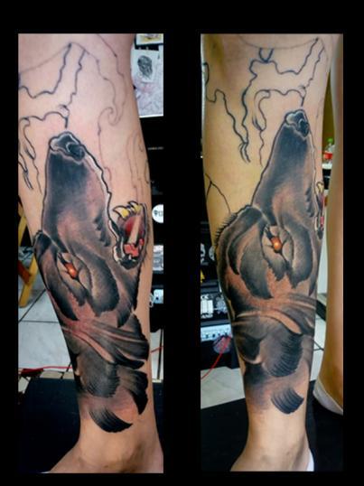 fullleg tatuaje realizado por Garo Lozada