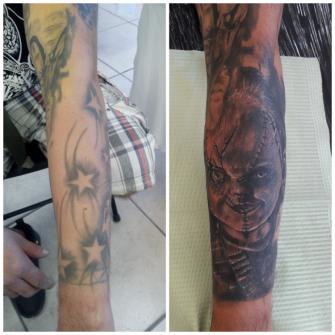 Cover up tatuaje realizado por Ressom esponda