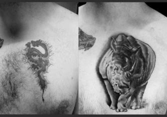 cover up tatuaje realizado por Garo Lozada