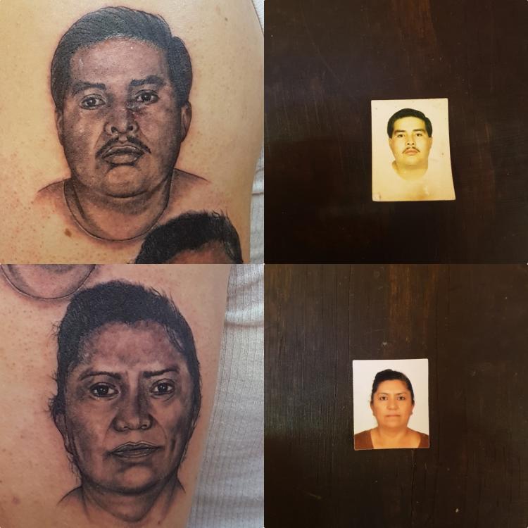 Rostros  tatuaje realizado por The inkperfect tattoo shop