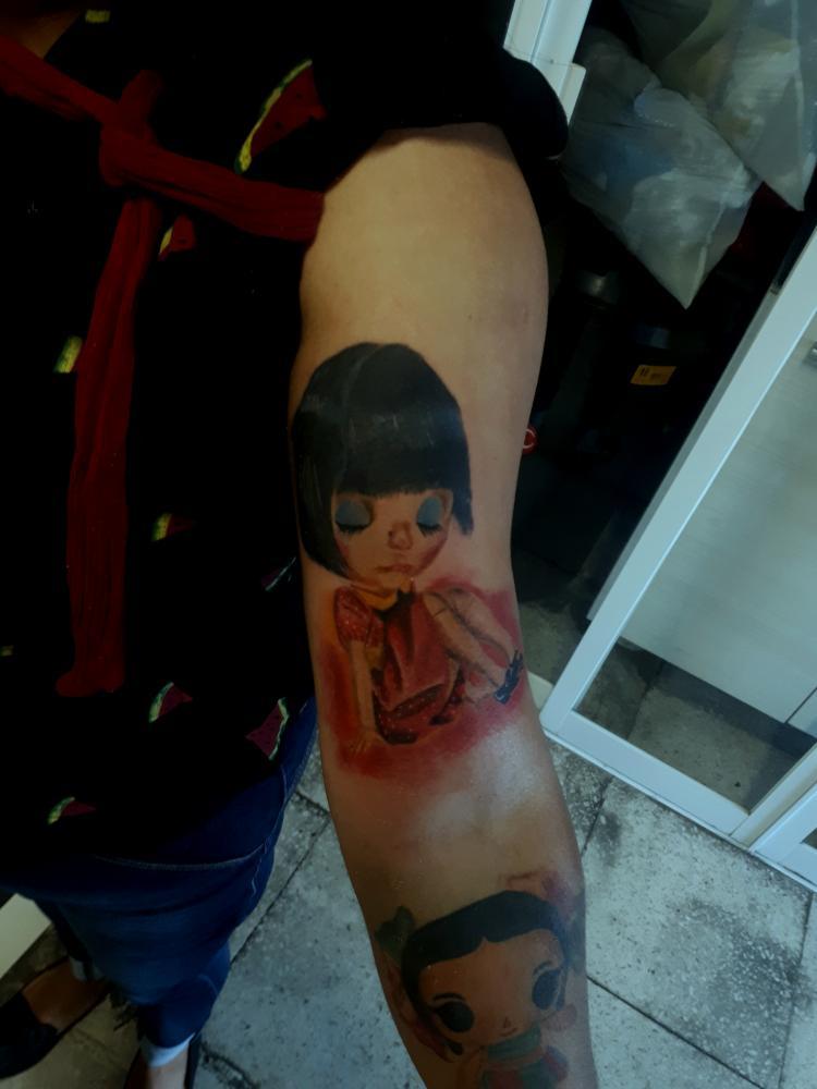 Fullcolor tatuaje realizado por Benjamín Churros