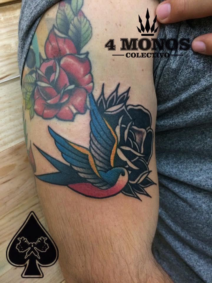 tradicional tatuaje realizado por Uriel Martínez
