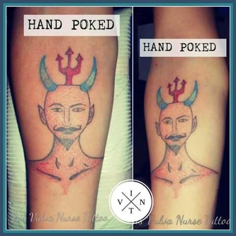 Diablo o Demonio tatuaje realizado por Iris Vulva Nurse