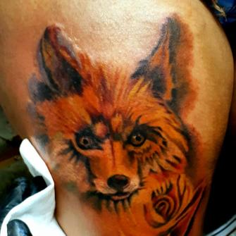Zorro tattoo  tatuaje realizado por Benjamín Churros