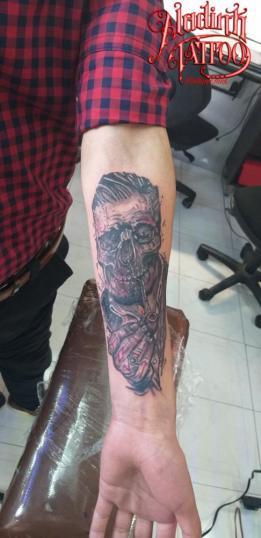 Fumador!! tatuaje realizado por Blas Aladid Maya