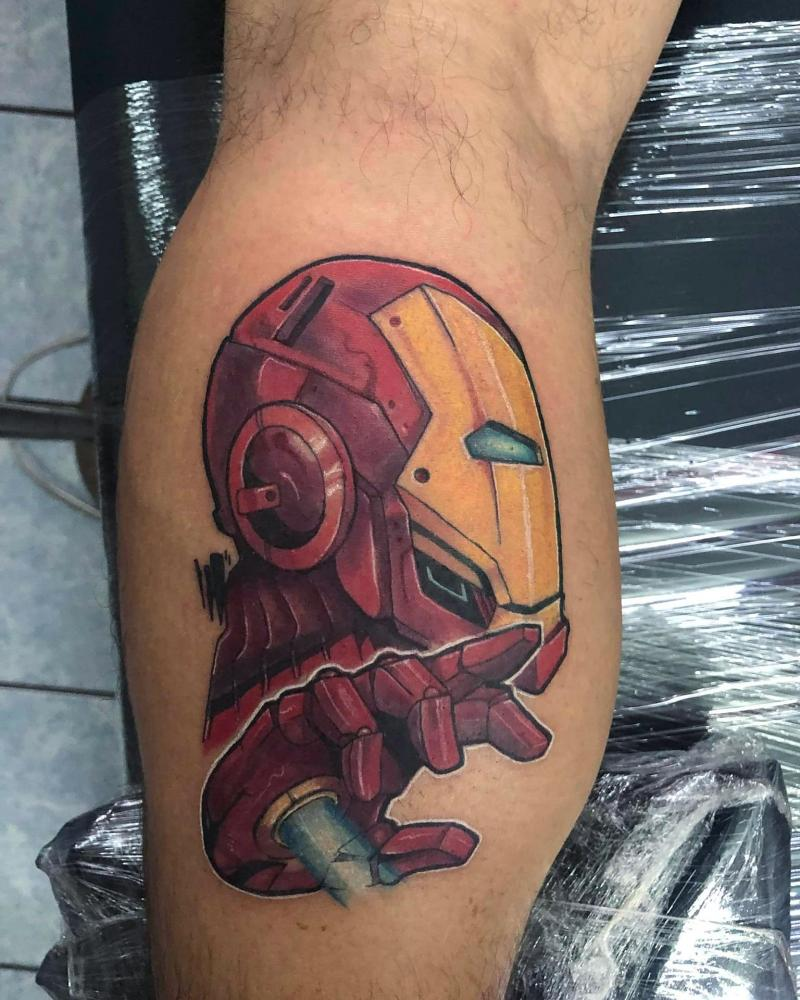 Marvel iron man tatuaje realizado por Ironik tattoo